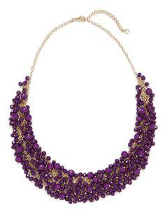 violet gem cluster necklace / baublebar