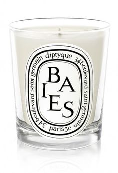 The best Diptyque candles! One of them is Baies