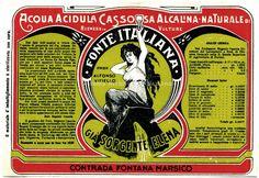 Ditta Alfonso Vitiello, acqua minerale Fonte italiana, sec. XX