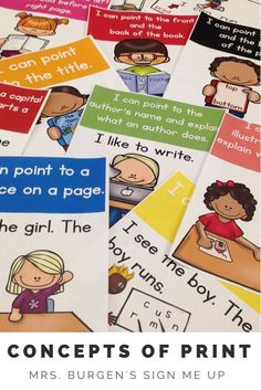 Concepts of Print for your deaf or hard of hearing or special education classroom. Use as your anchor chart or focus during guided reading.