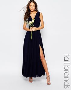 Image 1 ofFame And Partners Tall Valencia Maxi Dress