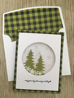 Stampin Up! has made it easy for you to get'er done with October's Pining for Plaid kit. The cards are a snap to put ...
