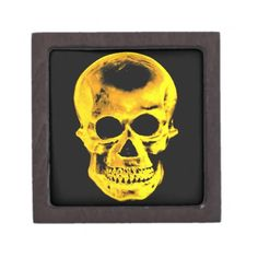 Golden Skull Premium Keepsake Boxes #Skull #Halloween #Box
