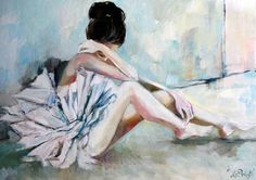 Mariola Ptak, baletnice, wnętrza, malarstwo, sztuka Painting, Art, Art Background, Painting Art, Kunst, Paintings, Gcse Art