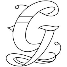 Inked Letter G | Urban Threads: Unique and Awesome Embroidery Designs