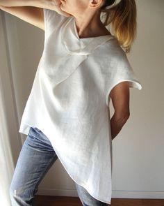 White linen blouse.