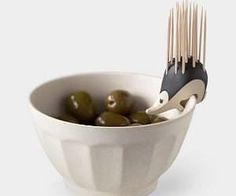 If your having guests over for nibbles then don't forget your hedgehog toothpick holder! Its fun and quirky design will come in handy when your serving food such as olives, cheeses, or cocktail sausages.