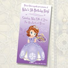 Disney Princess Sofia Birthday Invitations / by anthonypingicer,