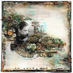 Dreamer by Finnabair - Scrapbook.com  She does such beautiful and intricate work.