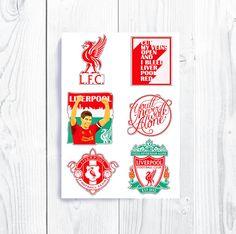 Liverpool FC Steven Gerrard Stickers You'll Never Walk Alone Anfield Stadium England Soccer Football Jürgen Klopp Premier League  Merseyside