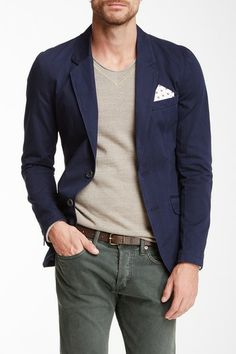 Elbow Patch Super Slim Fit Blazer by Antony Morato on @HauteLook