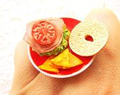 Bagel Sandwich with Corn Chips Bagel Sandwich, Corn Chips, Mini Foods, Bagels, Sandwiches, Doll, Ethnic Recipes, House, Home