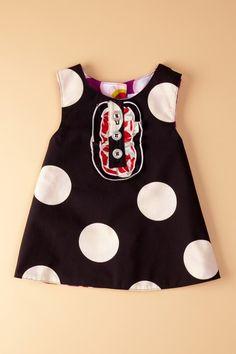 Reversible Tux Dress - Black/Dot Purple by Right Bank Babies on @HauteLook
