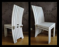 Chair made of ash & wenge.