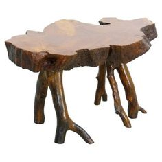 Check out this item at One Kings Lane! Live-Edge Burlwood Side Table