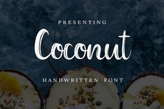 Coconut Font+FREE abstract patterns by Chimerique on @creativemarket
