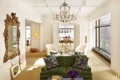 Offices of Aerin, a new business by Aerin Lauder.  Wouldn't a beautiful work environment make your work better?
