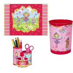 Prinzessin Lillifee 3er Set Schreibtischauflage 11351 & Papierkorb 10452 & Stifteköcher 11379