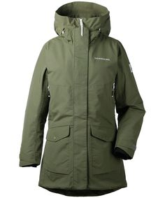 Didriksons Frida Parka Women - Wintermantel | Jetzt bei Terrific.de bequem bestellen Rain Jacket, Windbreaker, Raincoat, Style, Fashion, Fashion Styles, Winter Coat, Kleding, Swag