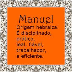 Significado do nome Manuel   Significado dos Nomes