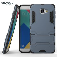 Case For Samsung A9 Pro Case Business Style Shockproof Silicon +Plastic Protect Case For Samsung Galaxy A9 Pro A910 Phone Case