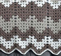 Monochromatic Baby Blanket Crochet Pattern.