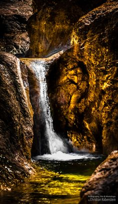 Golden Waterfall At Sunny Creek, Austria Places Around The World, Around The Worlds, Wonderful Places, Austria, Sunnies, Waterfall, Wildlife, Join, Journey