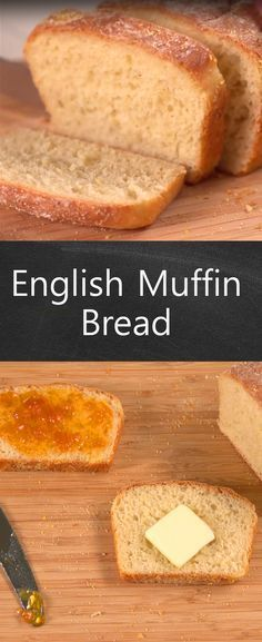 English Muffin Bread Recipe| Love English Muffins? Then you'll love this bread! It captures all of the taste of English muffins and it's one of the easiest breads--relatively!--we've ever tried to make.  Click to watch and see for yourself! And it doesn't have to be just for breakfast, this bread goes great with soup and makes a great dinner side too. #homemadebread
