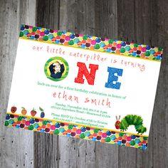 Printable eric carle inspired baby shower invitation 1200 via eric carle very hungry caterpillar custom by pencilmouthdesigns 1200 custom birthday invitationsvery filmwisefo Choice Image