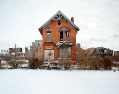 Documented by photographer Kevin Bauman as part of his excellent 100 Abandoned Houses project, the 24-block neighbourhood of Midtown Detroit known as Brush Park.