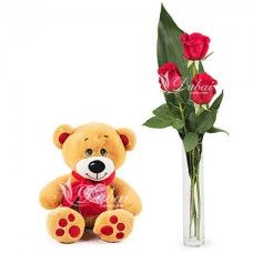 This romantic gift is the perfect way to tell your sweetheart how you feel. Set their heart aflutter with a 3 rose bouquet and teddy bear delivery. Birthday Gift Delivery, Birthday Gifts, Birthday Packages, Send Flowers, Flower Delivery, Special Day, Red Roses, Teddy Bear, Toys