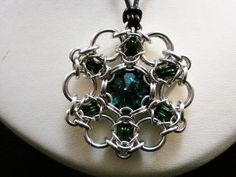 Swarovski Crystal Byzantine Chainmaille Pendant. $25.00, via Etsy.