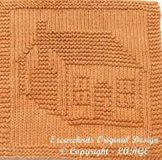 Knitting Cloth Pattern - LOG CABIN - PDF