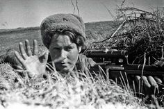https://flic.kr/p/oA2j1B | Russian girl – Sniper 1st Baltic Front. 1944.
