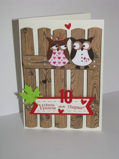 Owl Card, Owl Punch, Hardwood, Stampin'Up, Hochzeitstag