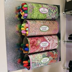 Crystal Light containers become storage for pens!