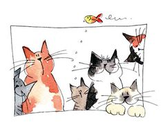 Jill Latter, Illustrator: Cats with Attitude