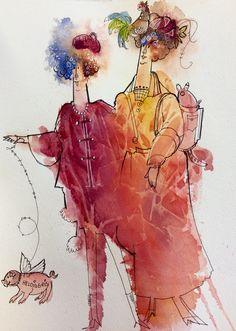 Banished (1) - episode 1 er ikke tilgjengelig! Denne videoen kunne ikke spilles av. Prøv igjen senere! Dersom du kontakter kundesupport, inkluder feilkoden under: Feilkode: FAILED_TO_START Pen Sketch, Sketches, Painting People, Figurative Art, Watercolor Art, Whimsical, Birthdays, Illustration, Water Colors