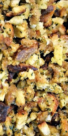Master Mix for Stove Top Stuffing using leftover bread. Stores in an air-tight container for up to 4 months or in the freezer for 1 year.