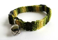 Adjustable Cat Collar Camouflage Pattern by BrumbysYarns on Etsy, $10.00