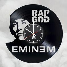 New Eminem Handmade Vinyl Record Wall Clock - VINYL CLOCKS