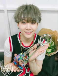 I love when I see Suga happy whenever they win a trophy