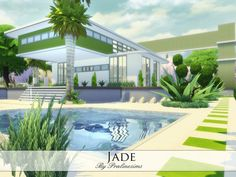 The Sims Resource: Jade house by Praline • Sims 4 Downloads