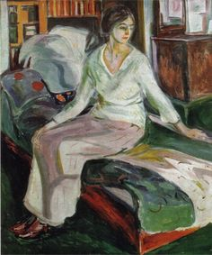 Model on the Couch, Edvard Munch.
