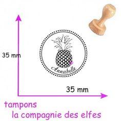 TAMPON bois personnalisé ananas