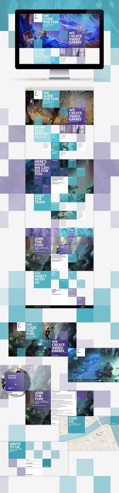 Webdesign project for game developement agency.http://www.sodigital.com/