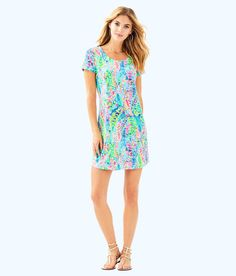 4ef17a51fc8 Lilly Pulitzer Upf 50+ Tammy Dress - XXS Cuff Sleeves, Shirt Dress, T