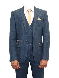 vintage blue 3 piece suits - Google Search More