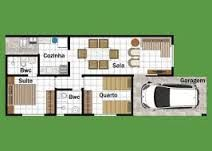 Resultado de imagem para planta casa 2 quartos cozinha americana