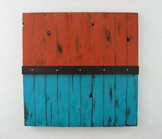 Rustic Reclaimed Wood Art. $350.00, via Etsy.